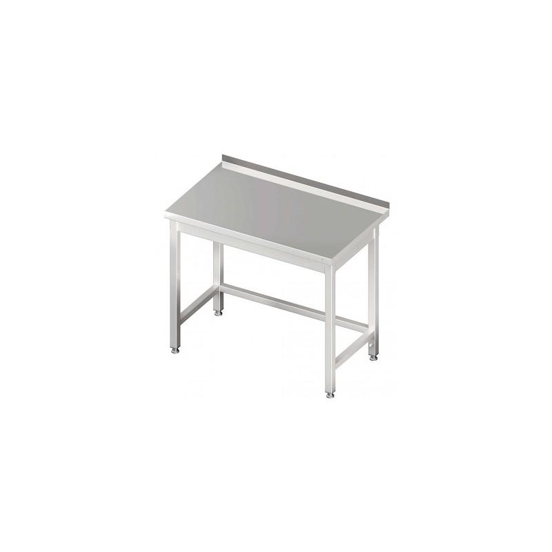table inox adossée sans étagère 1400 x 600 mm