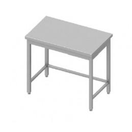 table inox centrale sans étagère 1600 x 700 mm