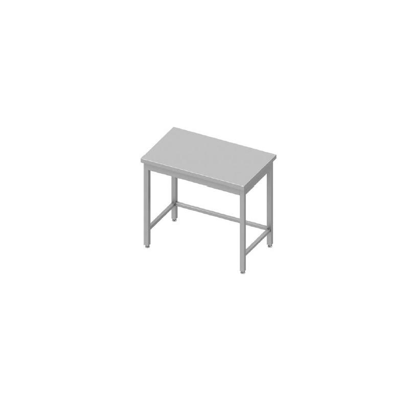 table inox centrale sans étagère 1800 x 700 mm