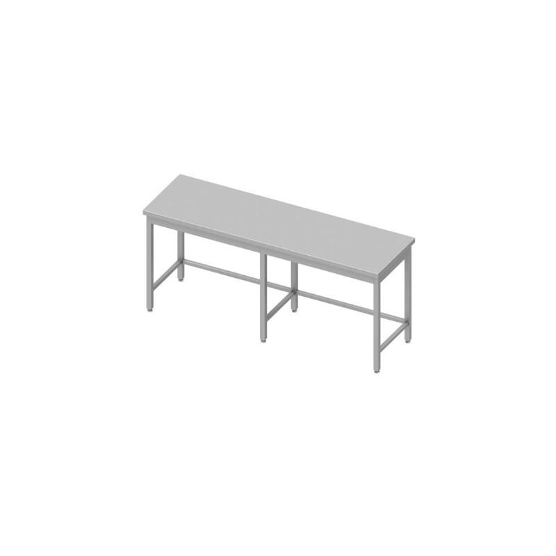 table inox centrale sans étagère 2000 x 700 mm