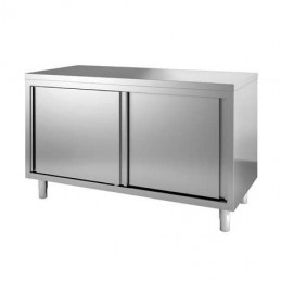 Placard inox 2 portes coulissantes central 1600 x 600 mm