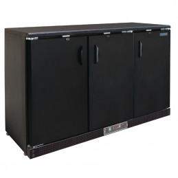 Arrière-bar 3 portes pleines battantes noir