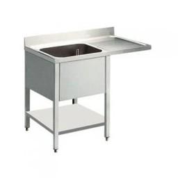 plonge 1 bac avec égouttoir droite avec passage lave vaisselle 1400 x 700