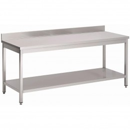 TABLE INOX AISI 304 ADOSSEE...