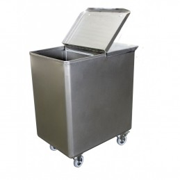 bac à sel ou à farine 130 litres avec séparation amovible