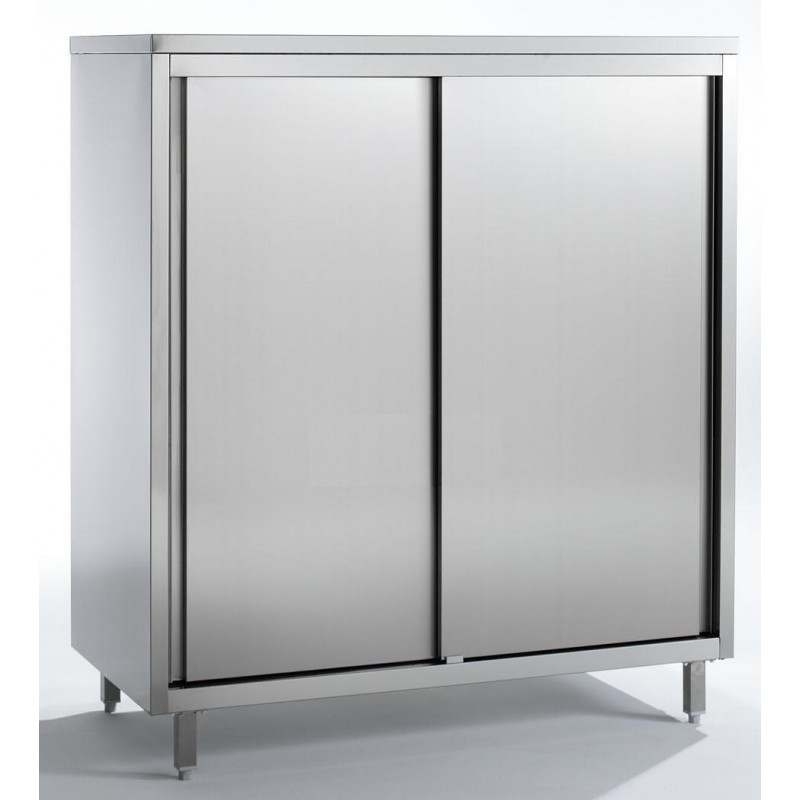 armoire inox 2 portes coulissantes