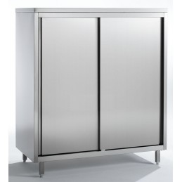 armoire inox 2 portes coulissantes