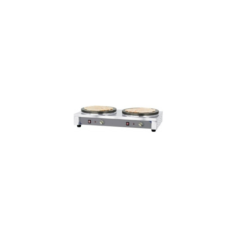 crêpière double ø 40 cm électrique prémium