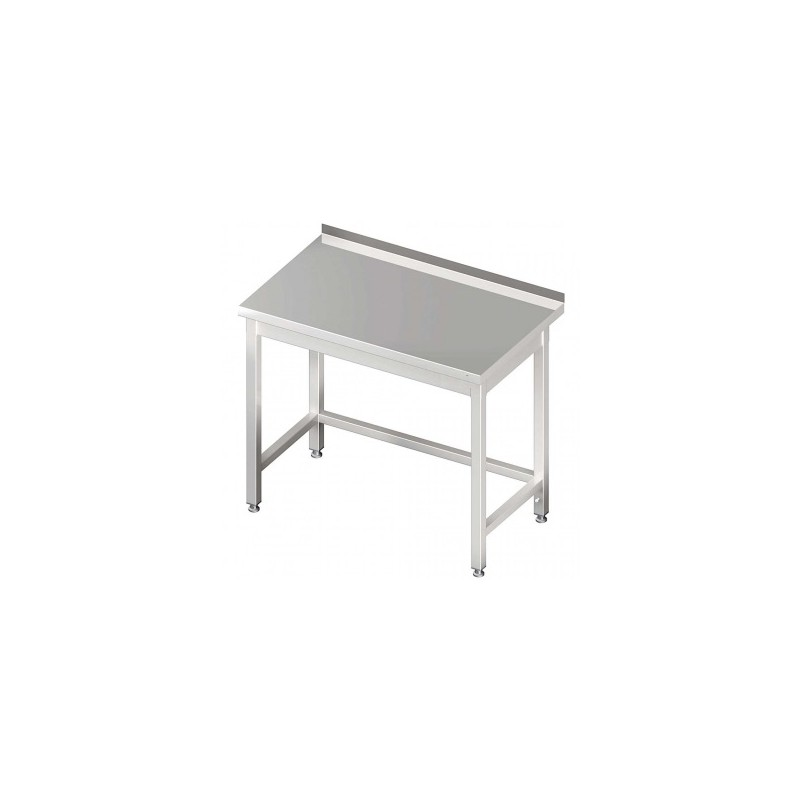 table inox adossée sans étagère 1400 x 700 mm