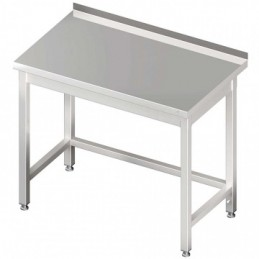 table inox adossée sans étagère 800 x 600 mm