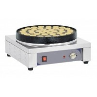 Appareil à blinis, à pancake ou poffertjes avec 38 empreintes pour un usage professionnel