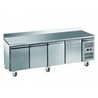 Meubles Réfrigérés de différentes profondeurs, 2, 3, 4 portes ou avec tiroir dessus en marbre ou inox pour cuisine professionnelle ou laboratoire
