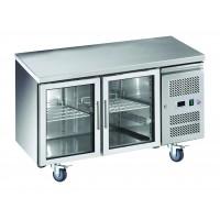Desserte réfrigérée positive profondeur 600 en inox 2 ou 3 portes sur roulettes pour stockage au froids des marchandises