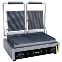Grill panini professionnel simple ou double avec grilles lisses ou rainurées